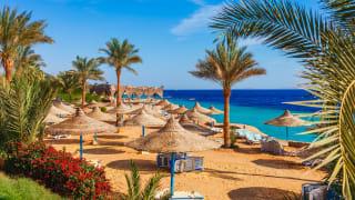 Resortstrand in Sharm el Sheikh, Ägypten