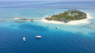 Aerial des Fushifaru Lhaviyani Atolls, Malediven