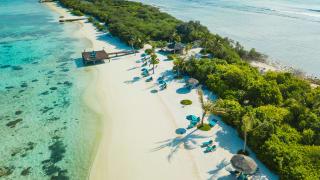 Canareef Resort auf Herathera Island, Addu Atoll, Malediven