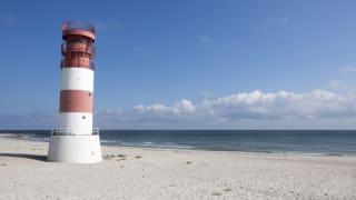 Leuchtturm am Strand, Helgoland, Nordsee