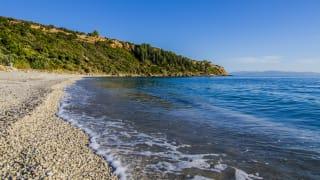 Strand Lourdata, Kefalonia, Griechenland