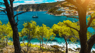 Ausblick an der Küste von Kefalonia, Griechenland