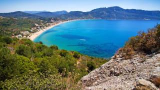 Agios Georgios Bucht, Korfu, Griechenland