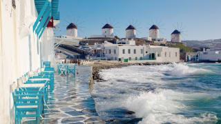 Windmühlen, Mykonos Stadt, Griechische Inseln