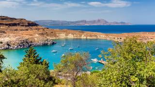 Bucht von Lindos, Rhodos, Griechenland