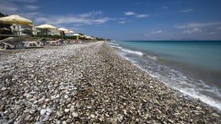 Strand Ialysos, Rhodos, Griechenland