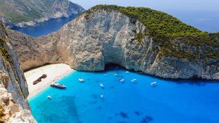 Strand von Navagio, Zakynthos, Griechenland