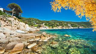 Strand, Insel Elba, Toskana