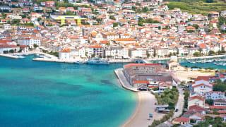 Luftaufnahme von Pag, Insel Pag, Kroatien