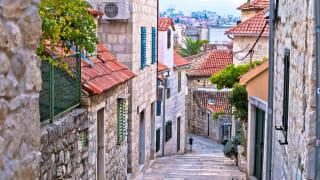 Strasse in Split, Dalmatien, Kroatien