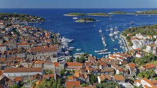 Hafen Hvar Stadt, Insel Hvar, Kroatien