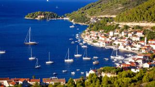 Hafen, Vis Stadt, Insel Vis, Kroatien