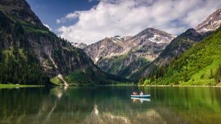 Vilsalpsee in Tirol, Österreich