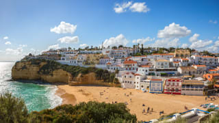 Strand Carvoeiro, Algarve, Portugal