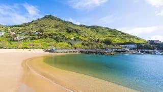 Strand von Machico, Madeira, Portugal