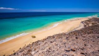 Strand Esquinzo, Fuerteventura, Spanien