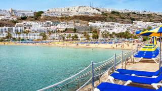 Strand Puerto Rico, Gran Canaria, Spanien