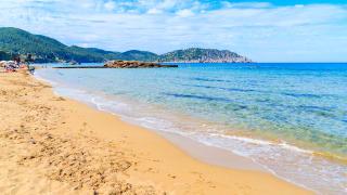 Playa Des Figueral, Ibiza, Spanien