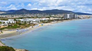 Playa den Bossa, Ibiza, Spanien