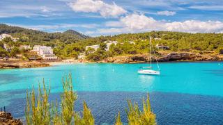 Portinatx, Ibiza, Spanien
