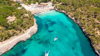 Strand Cala Ferrera, Cala d'Or, Mallorca