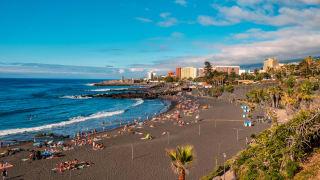 Strand, Puerto de la Cruz, Teneriffa, Spanien