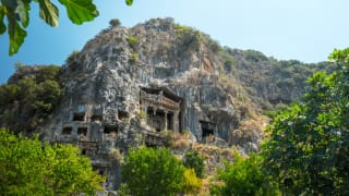 Lycian Rock Tombs, Fethiye, Türkei