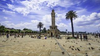 Uhrturm Saat Kulesi, Konak-Platz, Izmir, Türkei