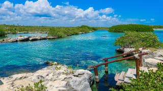 Lagune in Akumal, Riviera Maya, Mexiko