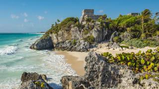 Maya Ruinen von Tulum. Quintana Roo, Mexiko