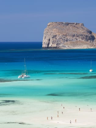 Balos Beach, Gramvousa Bay, Kreta, Griechenland