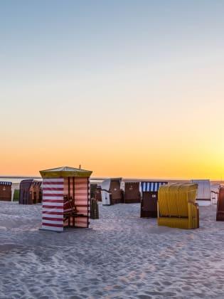 Strandkörbe, Insel Borkum, Nordsee