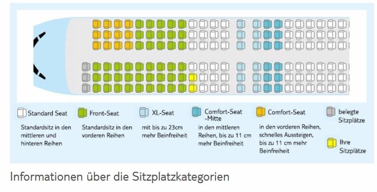 Bilder seats tuifly xl Seating plan