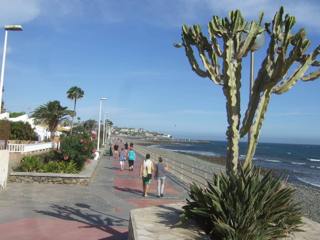Bild Promenade Bei Playa Del Ingles Zu Strandpromenade Playa Del