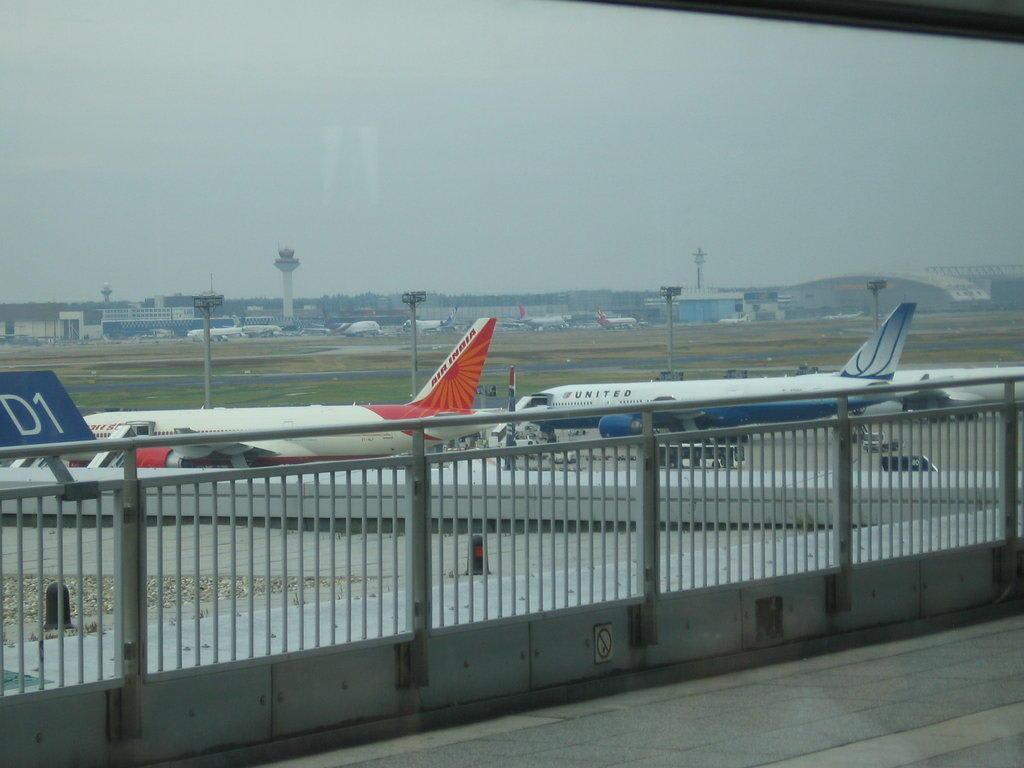 Bild Blick Auf Besucherterrasse Zu Flughafen Frankfurt Am Main