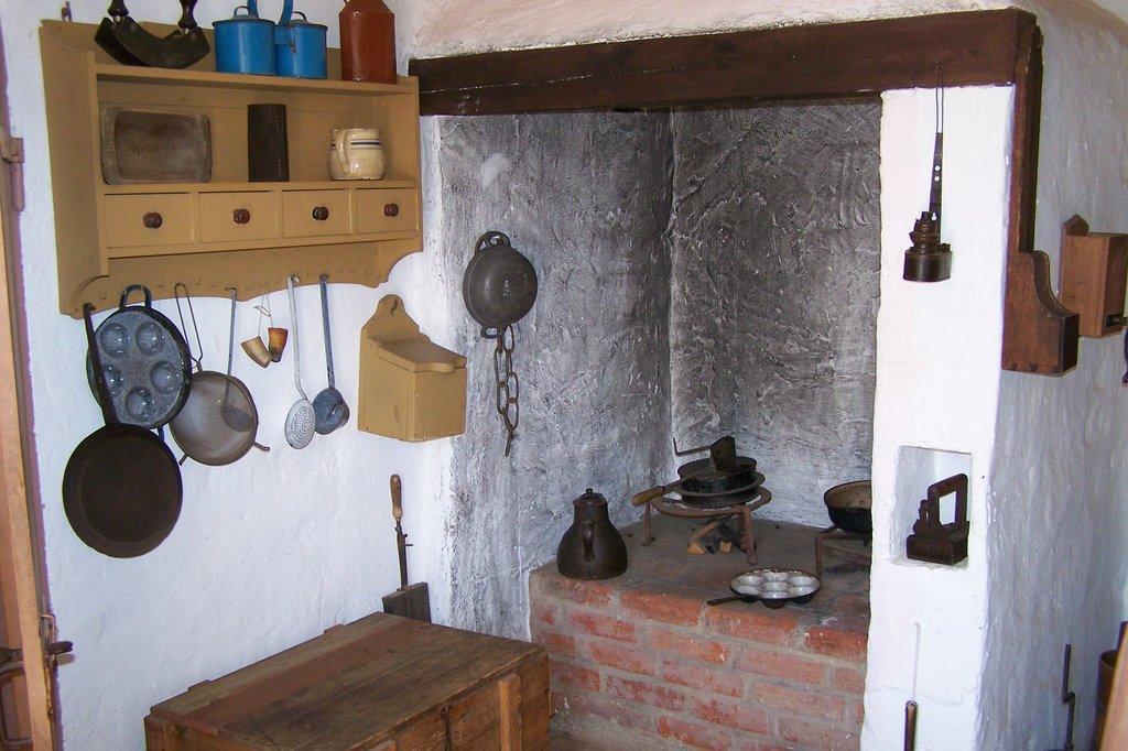 Bild Alte Kuche Im Bauernhaus Zu Alt Schwerin Museumsdorf In Alt Schwerin