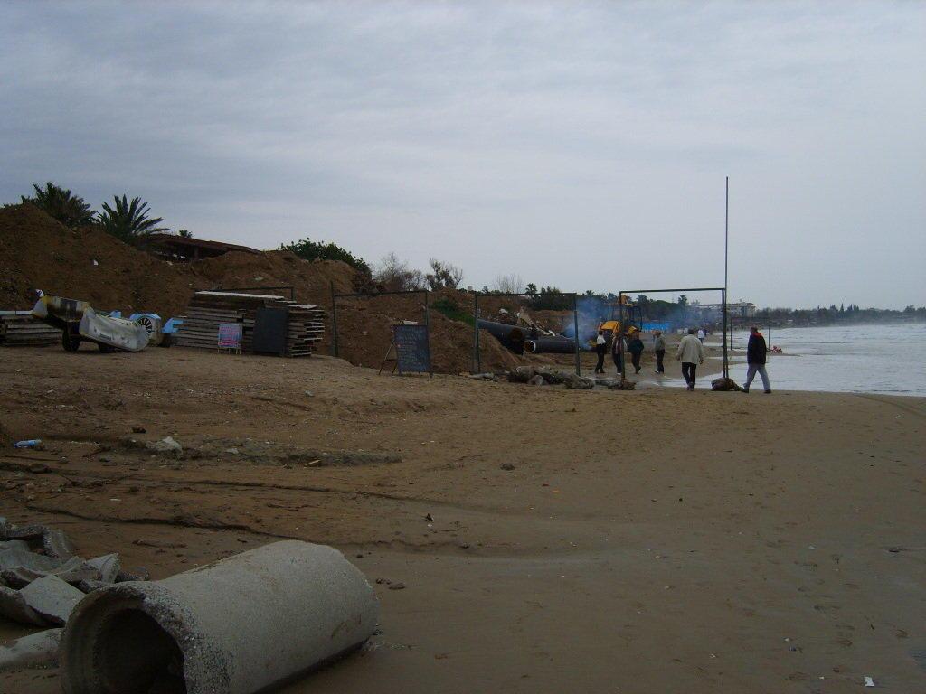 Bau der Strandpromenade bis Side Zentrum Bilder Hotel-Strand Hotel Side Star Elegance