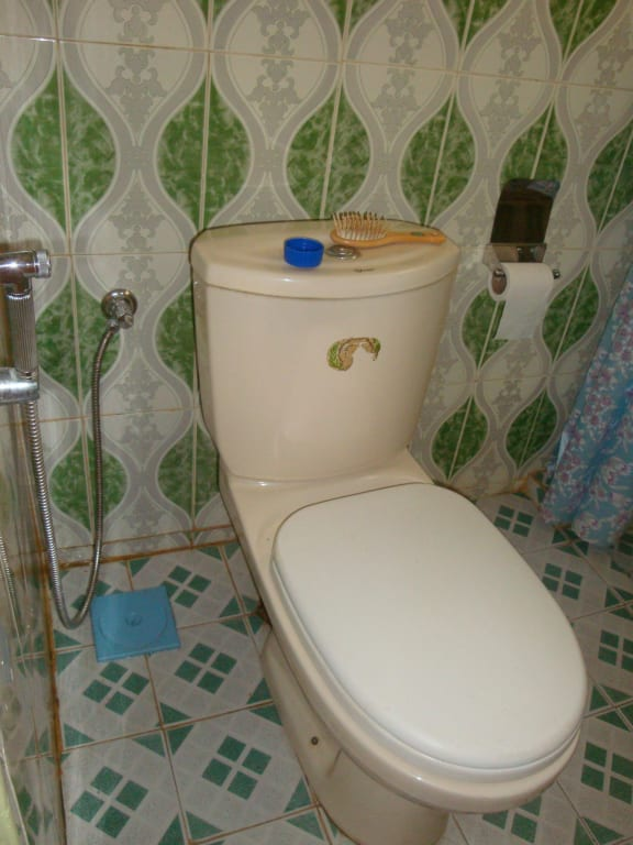 bild eklige toilette zu hotel ayurlanka in kalutara. Black Bedroom Furniture Sets. Home Design Ideas