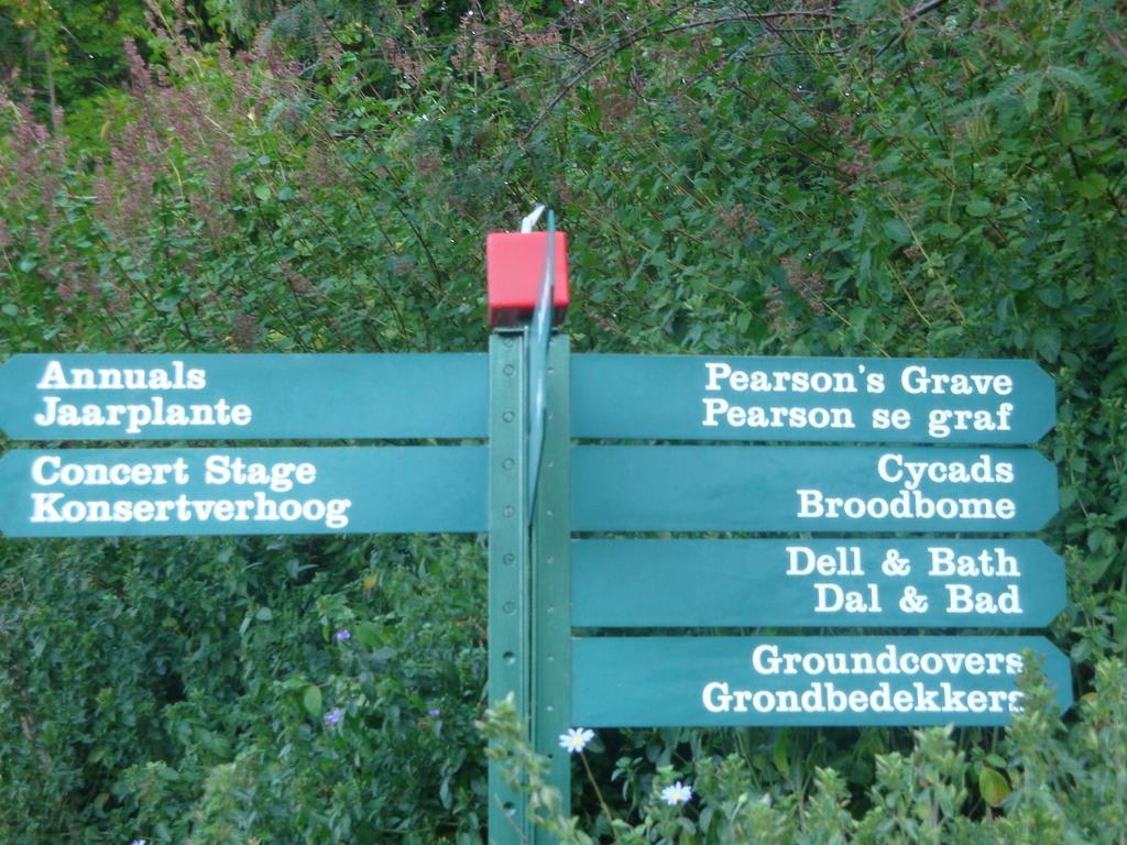 Bild Wegweiser Erleichtern Die Orientierung Zu Botanischer Garten