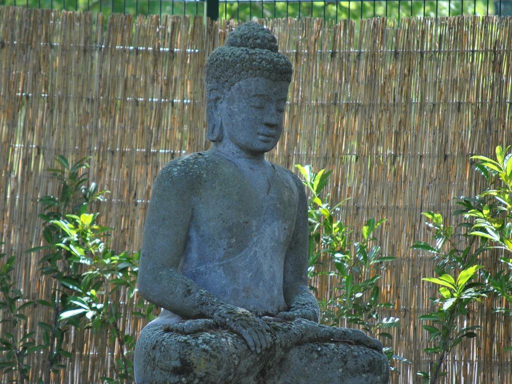 bild buddha statue im garten zu balitherme in bad oeynhausen. Black Bedroom Furniture Sets. Home Design Ideas