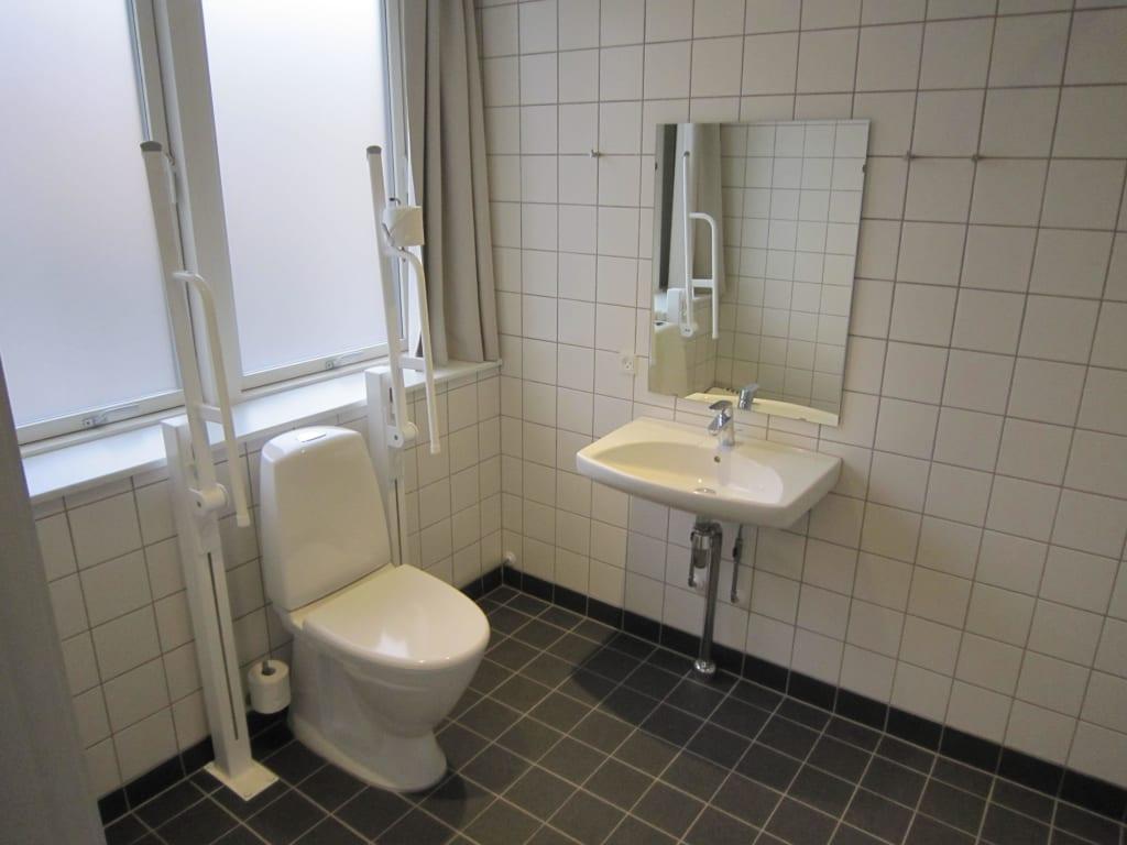 bild badezimmer behindertengerecht ausgestattet zu hostel generator in kopenhagen. Black Bedroom Furniture Sets. Home Design Ideas