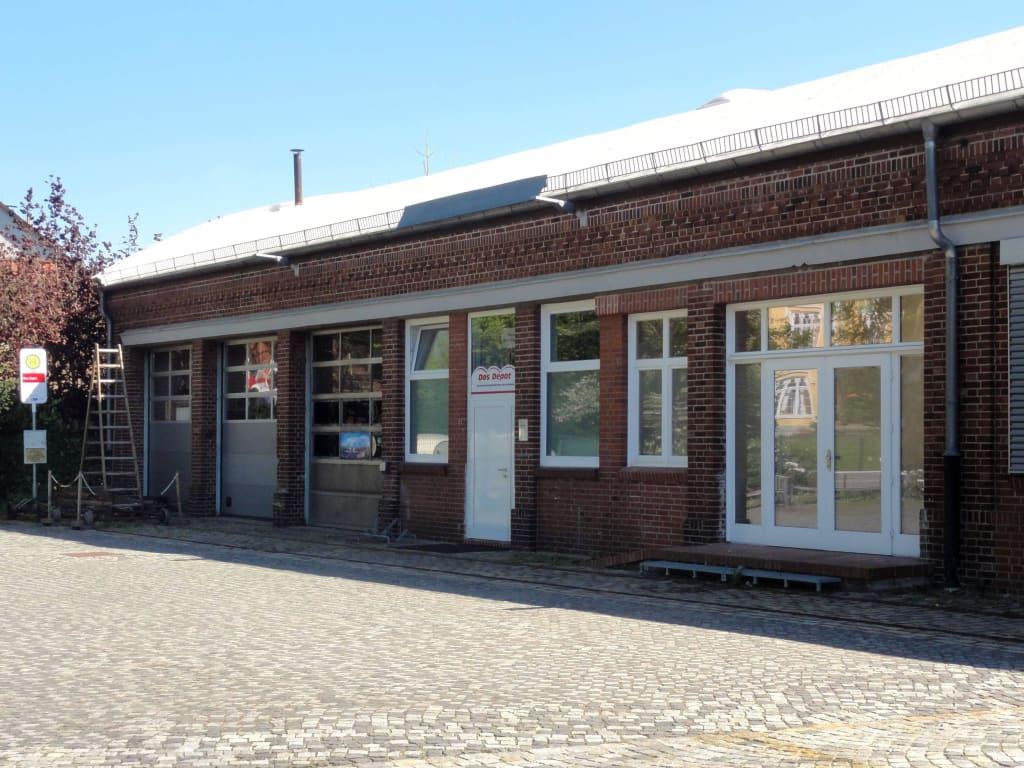 Bild Außenansicht Des Straßenbahnmuseums Zu Straßenbahnmuseum Das