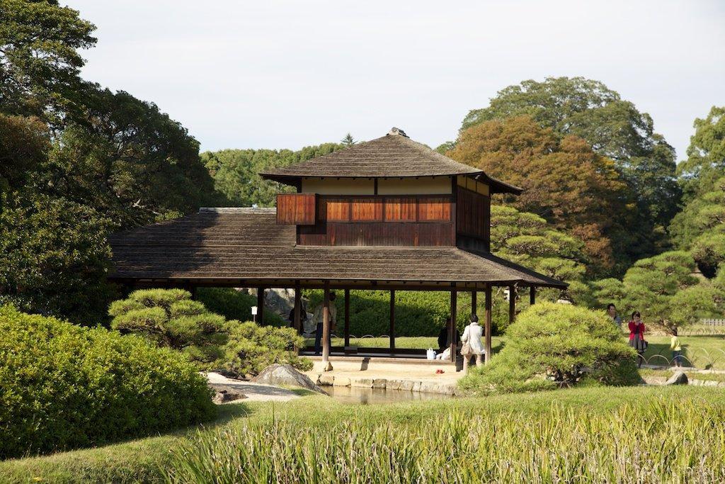 Bild Teehaus Zu Korakuen Garten In Okayama