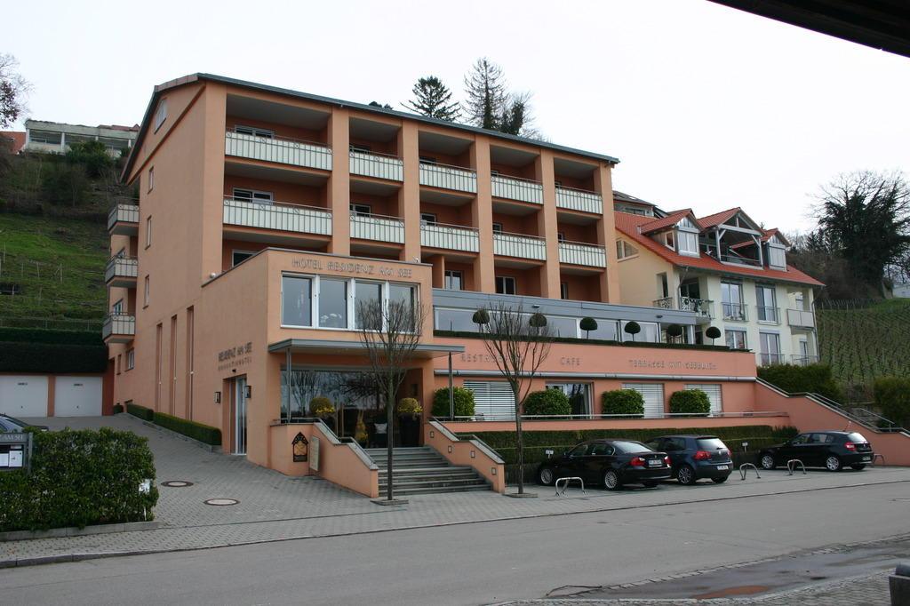 bild au enansicht zu hotel residenz am see in meersburg. Black Bedroom Furniture Sets. Home Design Ideas