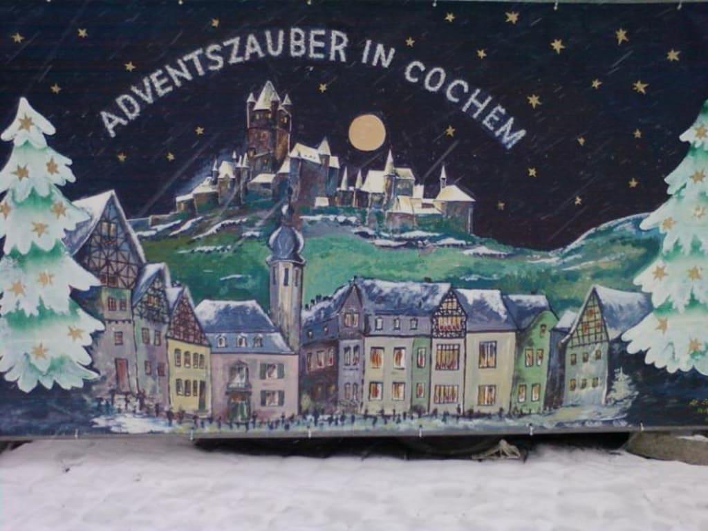 Cochem Weihnachtsmarkt.Bild Eingangsschild Zum Weihnachtsmarkt Zu Cochem In Cochem
