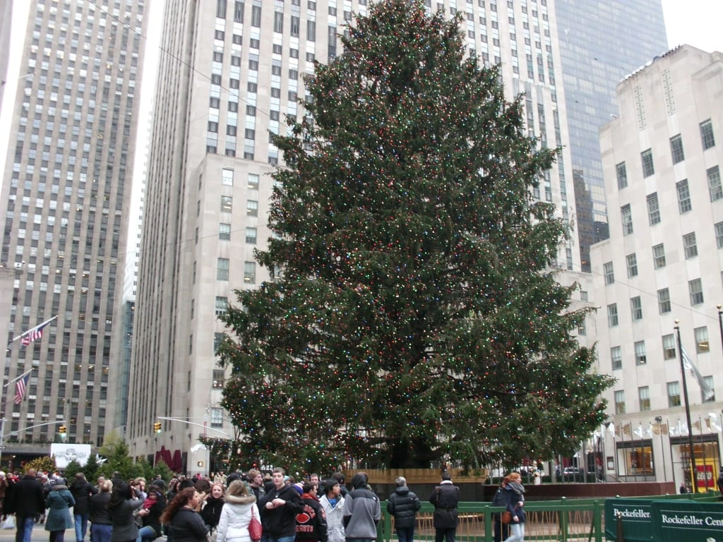 bild weihnachtsbaum am rockefeller center zu rockefeller. Black Bedroom Furniture Sets. Home Design Ideas