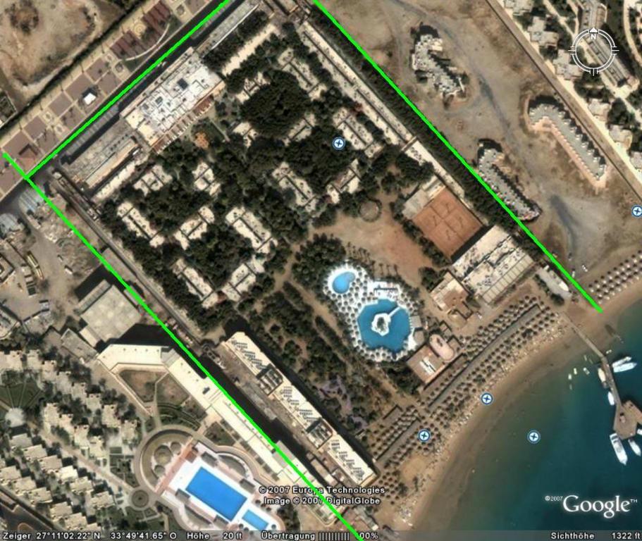 bild satelitenaufnahme vom giftun beach google earth zu giftun azur resort in hurghada. Black Bedroom Furniture Sets. Home Design Ideas