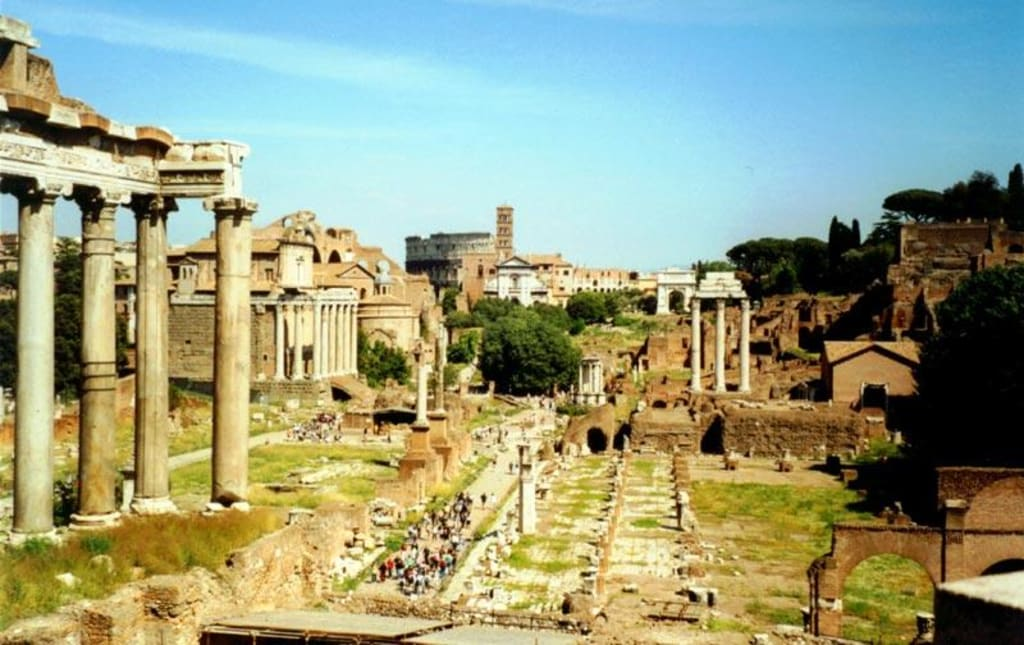 bild das forum romanum zu forum romanum in rom. Black Bedroom Furniture Sets. Home Design Ideas