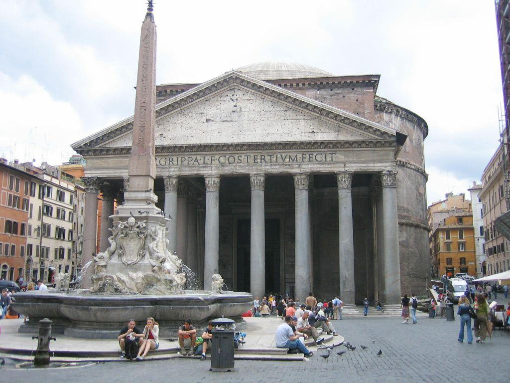 bild pantheon zu piazza de pantheon in rom. Black Bedroom Furniture Sets. Home Design Ideas