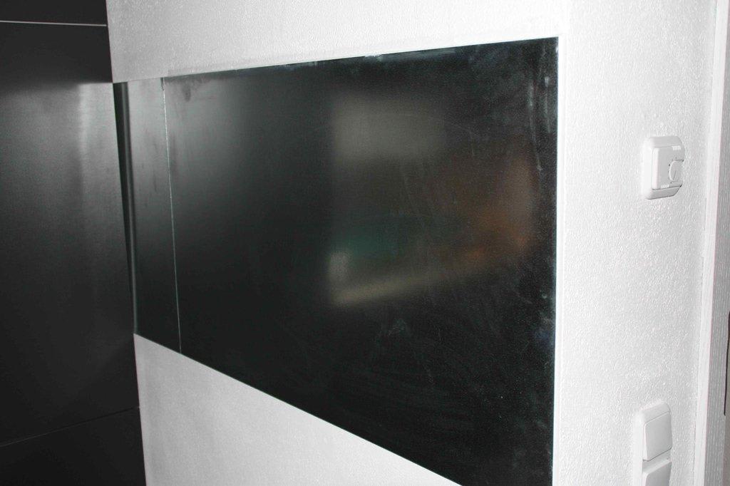 bild wandverkleidung k che zu ferienwohnung sommer im ferienhaus am first in oberstdorf. Black Bedroom Furniture Sets. Home Design Ideas